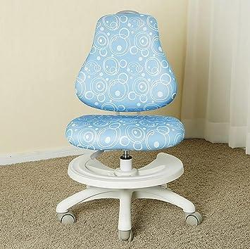 JJZDYZ Silla de estudio de los niños silla ajustable de altura ajustable de altura para niños (86 * 60cm) Silla plegable ( Color : Azul )