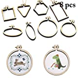 JUSTDOLIFE 8PCS Embroidery Hoop Mini Embroidery Ring Cross Stitch Hoop for DIY Art Craft (Color: Burlywood, Tamaño: One Size)