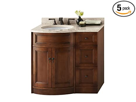 "Ronbow 060624-F11_Kit _1 Marcello Bathroom Vanity Set, 24"", Colonial Cherry"