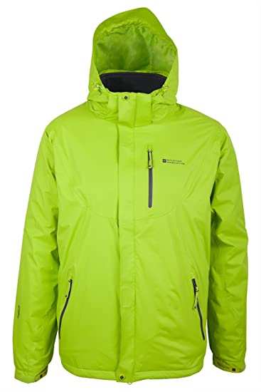 Mountain Warehouse Da Uomo Ski Jacket Luce con rivestimento in pile e cappuccio regolabile