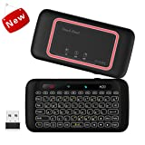 Wireless Mini Keyboard With Touchpad, Backlit Keyboard and Mouse Combo with IR Learning Function and One Key Power ON/OFF Function for Raspberry Pi, HTPC, Android TV Box, Smart TV, PC, PS4, Xbox (Color: H20+)