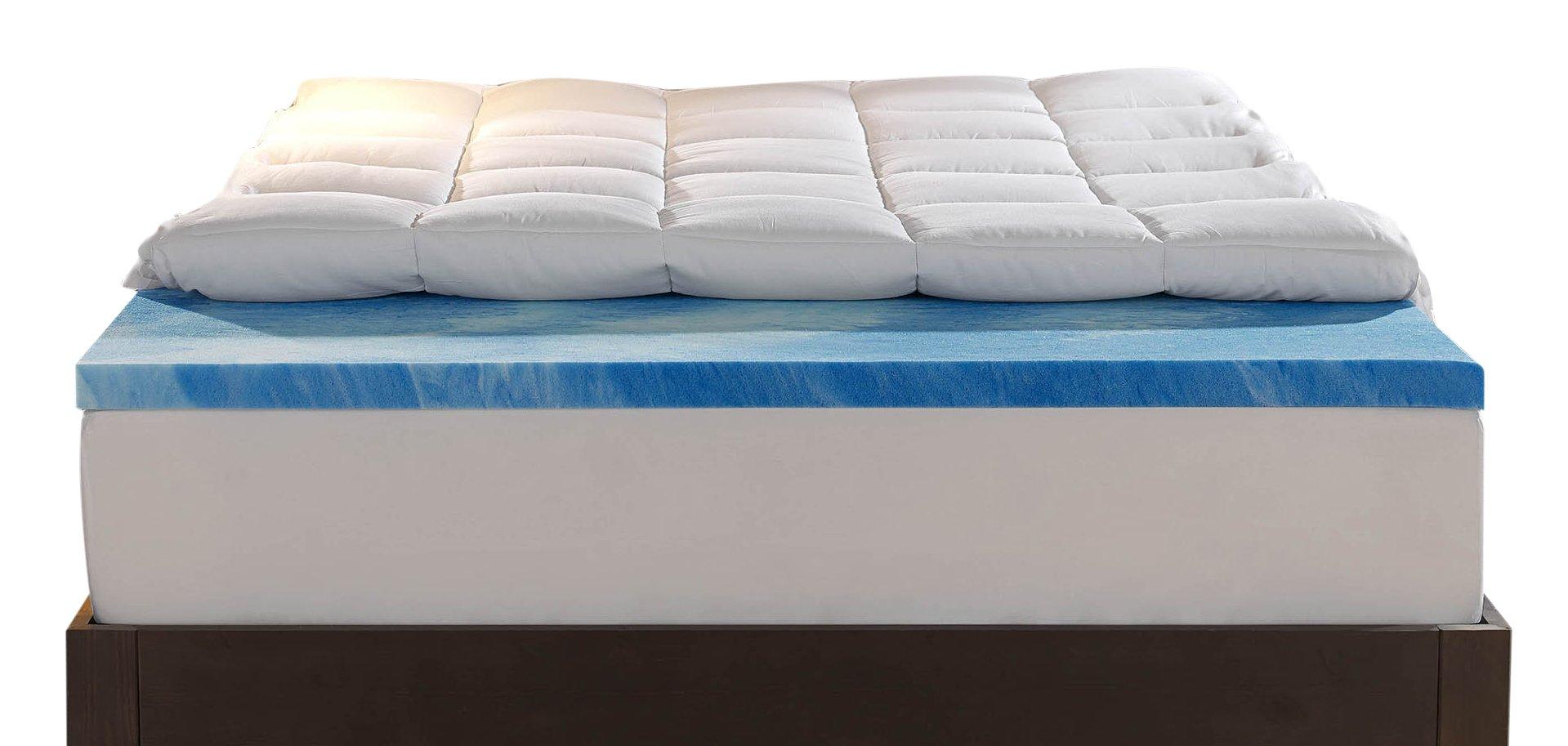 Sleep Innovations 4 Inch Dual Layer Mattress Topper Gel
