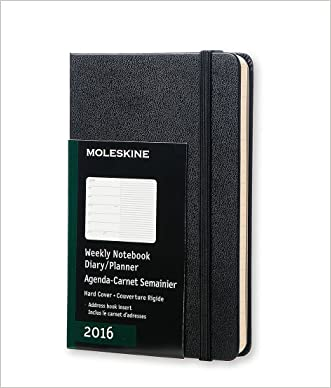 Moleskine 2016 Weekly Notebook, 12M, Pocket, Black, Hard Cover (3.5 x 5.5) written by Moleskine