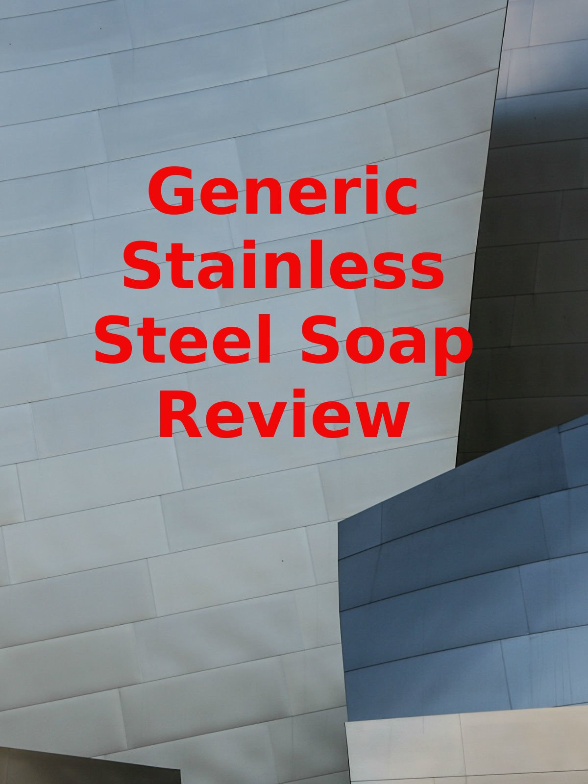 Review: Generic Stainless Steel Soap Review
