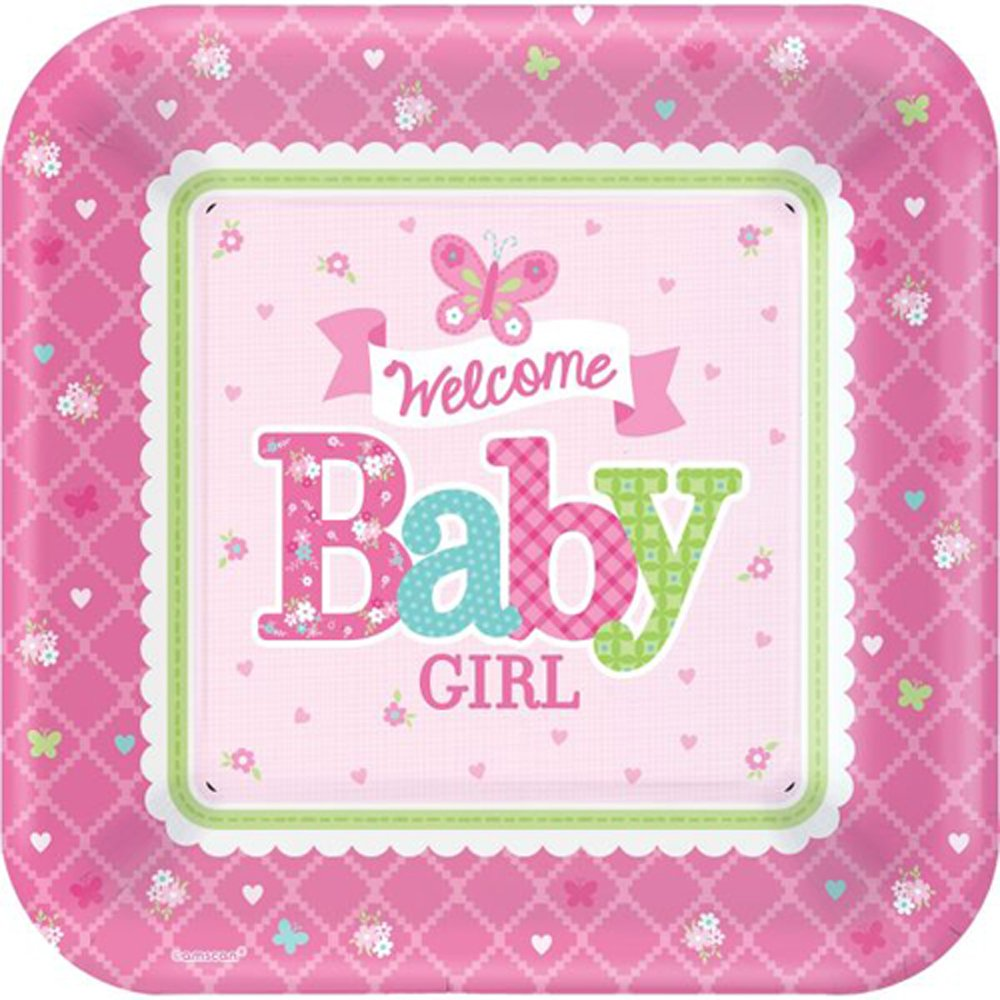 girl baby shower paper plates baby shower mania