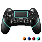 PS4 Controller?Upgraded Version? ORDA Wireless Gamepad for Playstation 4/Pro/Slim/PC(7/8/8.1/10) with Vibration and Audio Function, Mini LED Indicator, USB Cable and Anti-Slip - Berry Blue