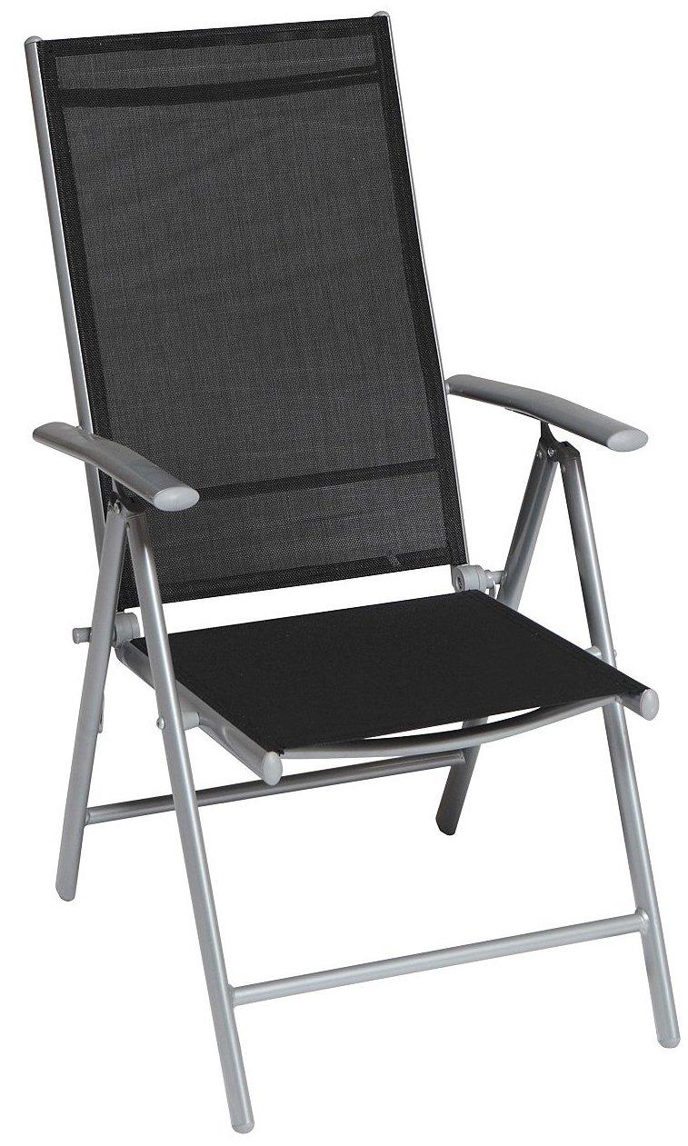 Klappstuhl Serie Amalfi in schwarz mit Textilgewebe 5-fach verstellbar online kaufen
