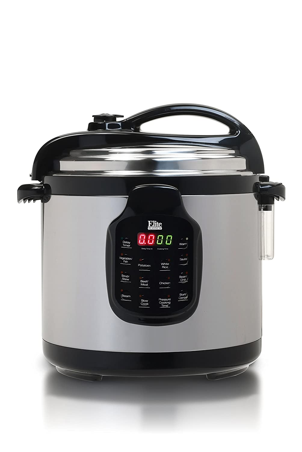 Elite Platinum EPC-678SS MaxiMatic 11-Function Digital Pressure Cooker with Stainless Steel Pot, 6-Quart