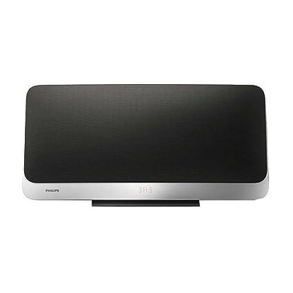 Philips BTB2470/10 Microchaîne Stéréo avec Bluetooth (20 W, Appairage Multiple, DAB+, FM, USB et Bassreflex) avec Télécommande, Noir