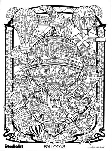 Images of Vintage Doodle Art Posters - Sabadaphnecottage