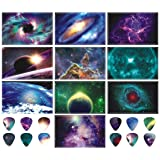 Guitar Pick Strip Pack - Pick Punch Refill Kit - Space Edition - Plastic Card Assortment for Guitar Pick Punch, Includes 10 Different Styles - Nextronics