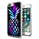 Pineapple Cases for iPhone 8 Plus/for iPhone 7 Plus,Gifun [Anti-Slide] and [Drop Protection] Clear Soft TPU Protective Case for iPhone 8 Plus/for iPhone 7 Plus- Brightly Colored Marble Pineapple (Color: 8 Plus /7 Plus CASE-1)