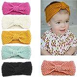 Udobuy6 Pcs Super Cute Baby Girls Toddler Elastic Headbands Turban Knot Hairband Headwear (6 Pcs headband)