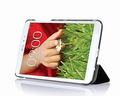 ELTD® Hochwertigem PU-Leder Case Hülle Für LG G Pad 8.3 Mit Ständer/ Schutzhülle Ständer (Für LG G Pad 8.3 Zoll, SchwarzIII)