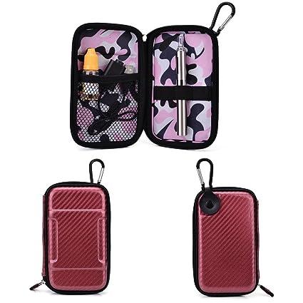 Travel Vape Case compatible with Vapor Smoking Electronic Hookah Pen |SLIM MAROON & PINK