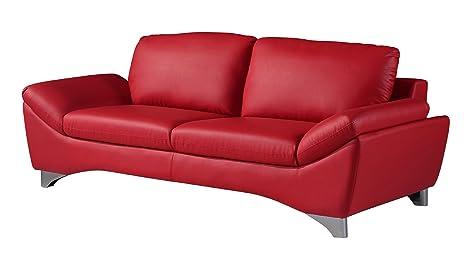 Global Furniture Natalie Sofa, Red
