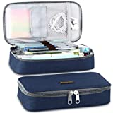 Homecube Pencil Case, Big Capacity Pen Case Desk Organizer with Zipper for School & Office Supplies - 8.74x4.3x2.17 inches, Blue (Color: Blue)