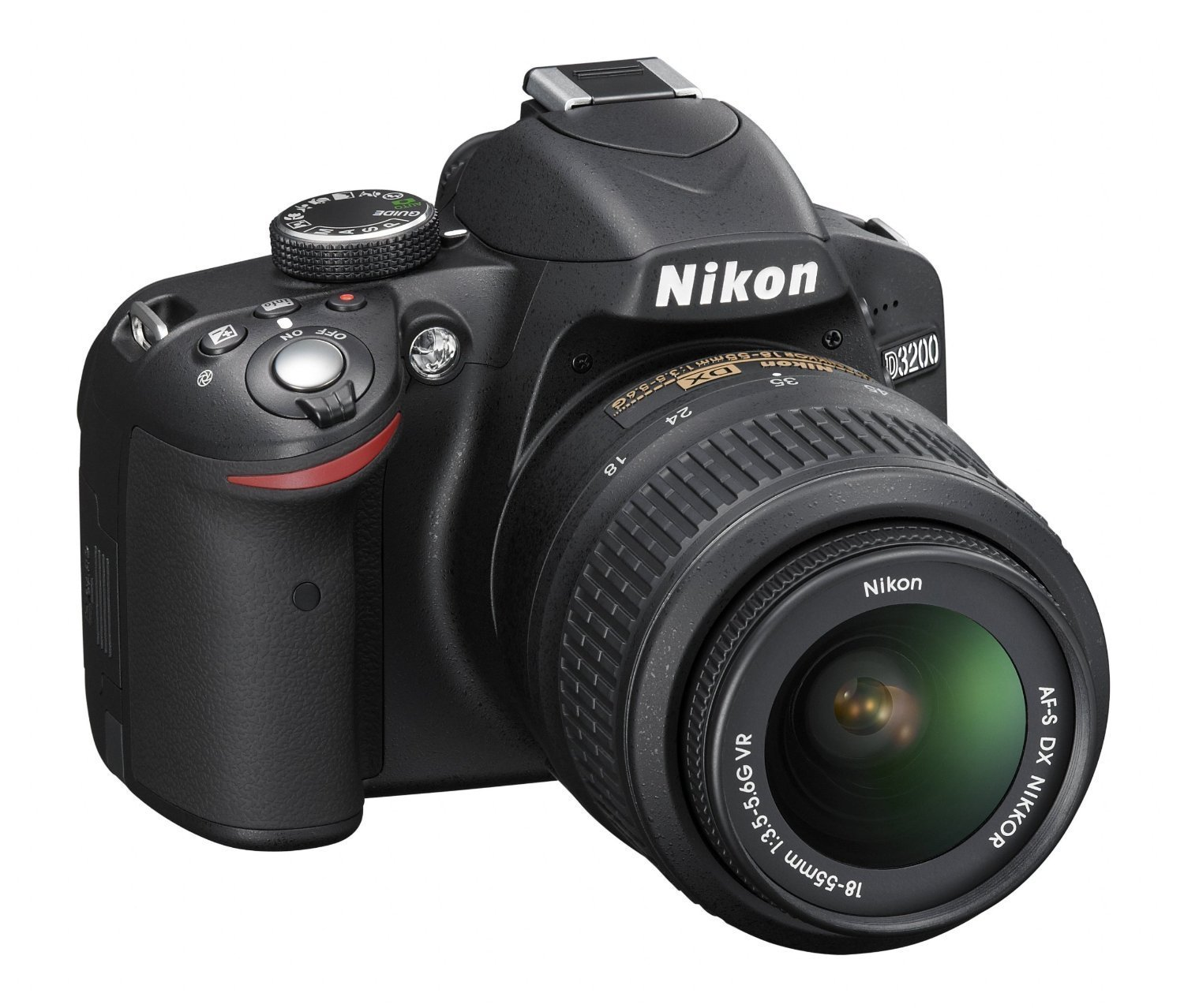 Buy Nikon D3200 24.2MP Digital SLR Camera (Black) with AF-S 18 ...