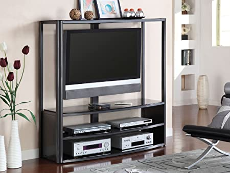 Pearington Faron II Metal TV Console, Black Finish