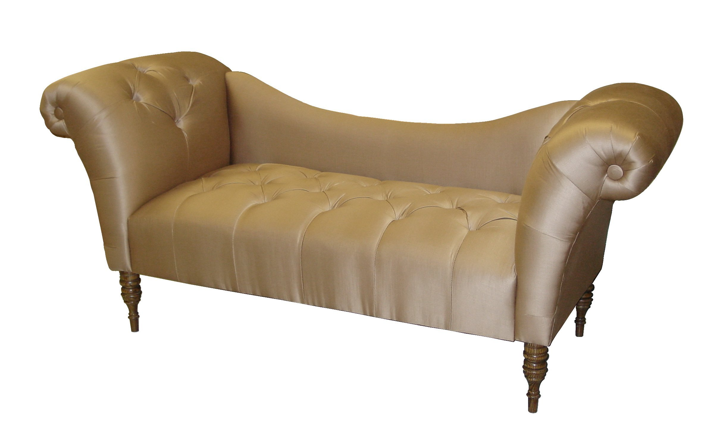Double chaise lounge indoor furniture - Antique Style Double Arm Upholstered Bench Check Price