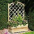 plastic garden trellis planters