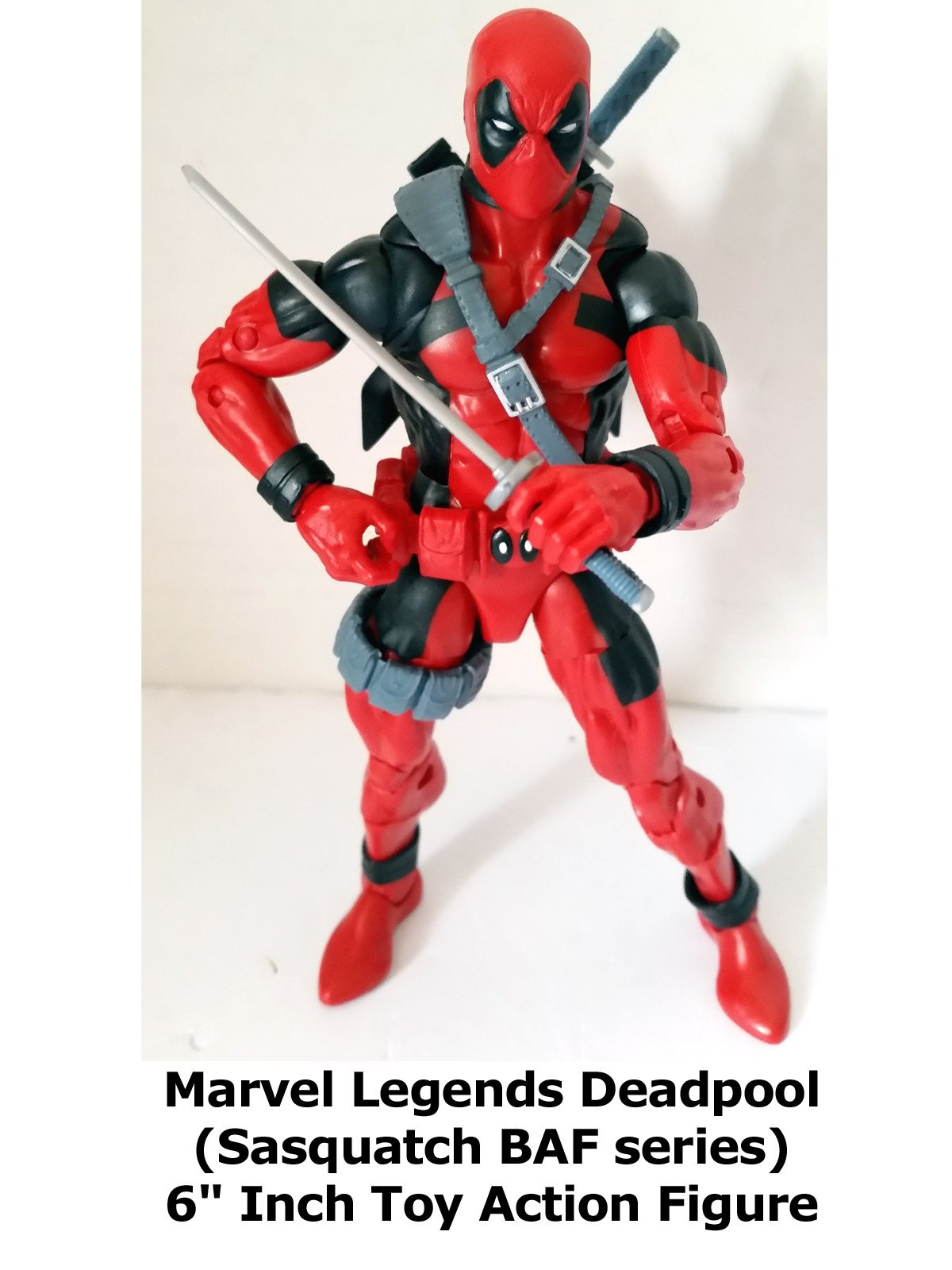 "Review: Marvel Legends Deadpool (Sasquatch BAF series) 6"" Inch Toy Action Figure on Amazon Prime Video UK"