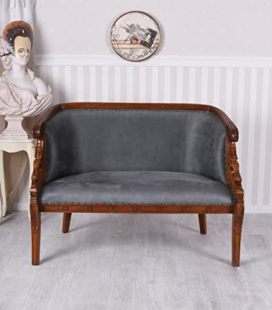Sofa Josephine Sitzbank Biedermeier Couch Mahagoni Polstercouch Antik Palazzo Exklusiv