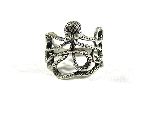 Amazon.com: Octopus Ring Sea Monster Squid RI15 Kraken Steampunk ...