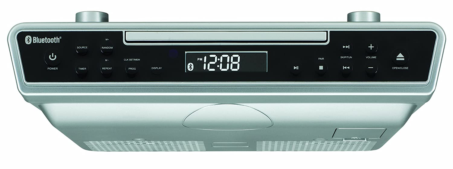 Best Under-Cabinet Kitchen CD Clock Radio Reviews 2018-2019 on ... on antique pooley radio cabinet, kitchen cabinet radio cd player, radio cd under cabinet, microwave under cabinet,