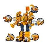 5 pack TransTruck Transform Tractor Robot Action Figures Combine into 1 Giant Robot – Holiday, Birthday Gift Tractors Robots Toys For Kids