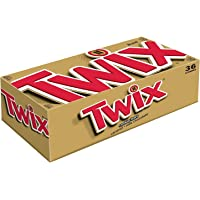 36-Pack TWIX Caramel Singles Chocolate Cookie Bar Candy 1.79-Ounce