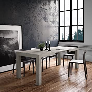 EXTENDABLE PULL-OUT DINING TABLE CONCRETE IACOPO