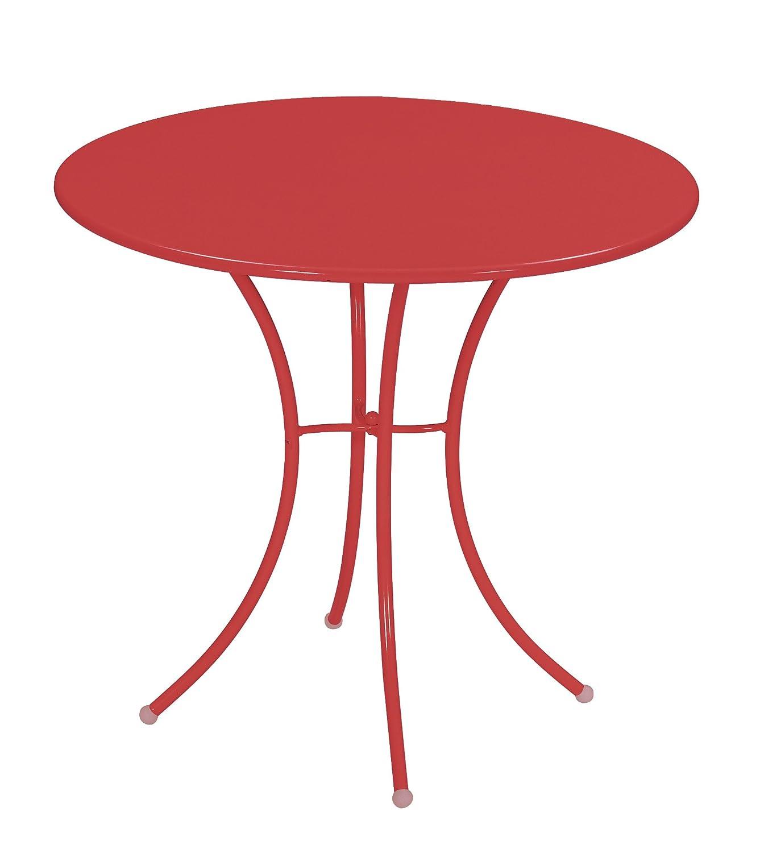 Emu 309064400 Pigalle Tisch 906, ø 80 cm, pulverbeschichteter Stahl, rot online kaufen