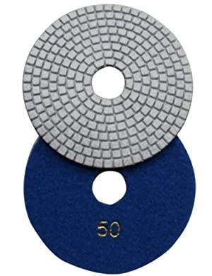Konfor Wet 6 7-Step Diamond Polishing Pads Flexible Sanding Tools Discs Buff (Tamaño: 6 Inch)