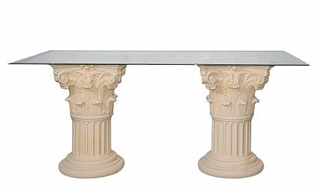 Tavolo da pranzo crema-beige-finitura anticata 160 cm X90 cm