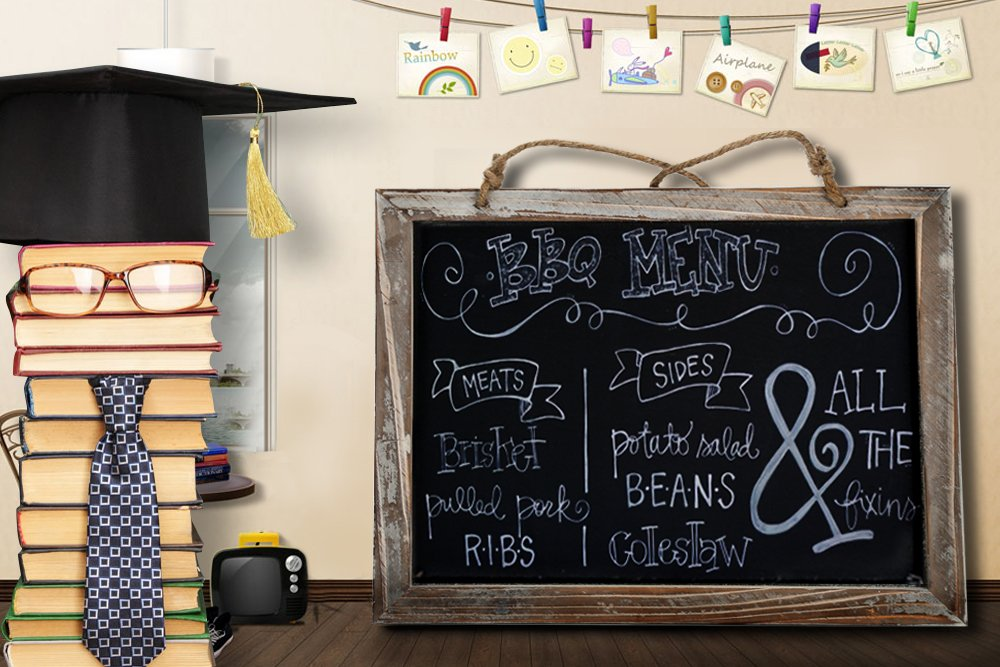 Cade Vintage Framed Kitchen Chalkboard - Decorative Chalk Board for Rustic Wedding Signs, Kitchen Pantry & Wall Decor (3packs, 9.5*12in) 6