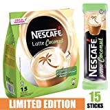 [Limited Edition] Nescafe 3 in 1 Tropical Coconut Coffee Latte - Instant Coffee Packets - Single Serve Flavored Coffee Mix (15 Sticks) (Tamaño: 1 Pack)