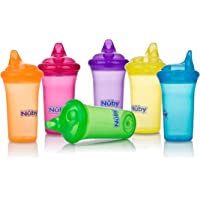 Nuby No-Spill Cup with Dual-Flo Valve,9oz. (Multi Colors)