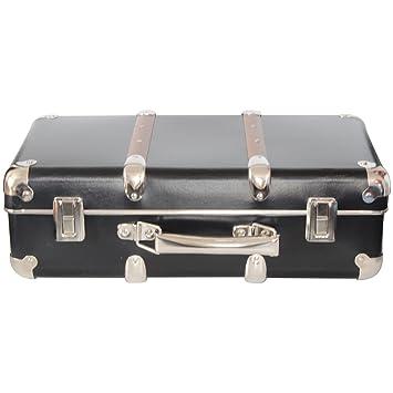 valise d corative rangement noire noire 40x27x14cm cuisine maison m233. Black Bedroom Furniture Sets. Home Design Ideas