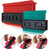 2 Pack Plastic Contour Gauge Profile Gauge Duplicator Copy Irregular Shapes Tracing Template Measuring Tool for Fit and Easy Cutting (10 Inch Red 5 Inch Green) (Tamaño: 10 Inch Red 5 Inch Green)