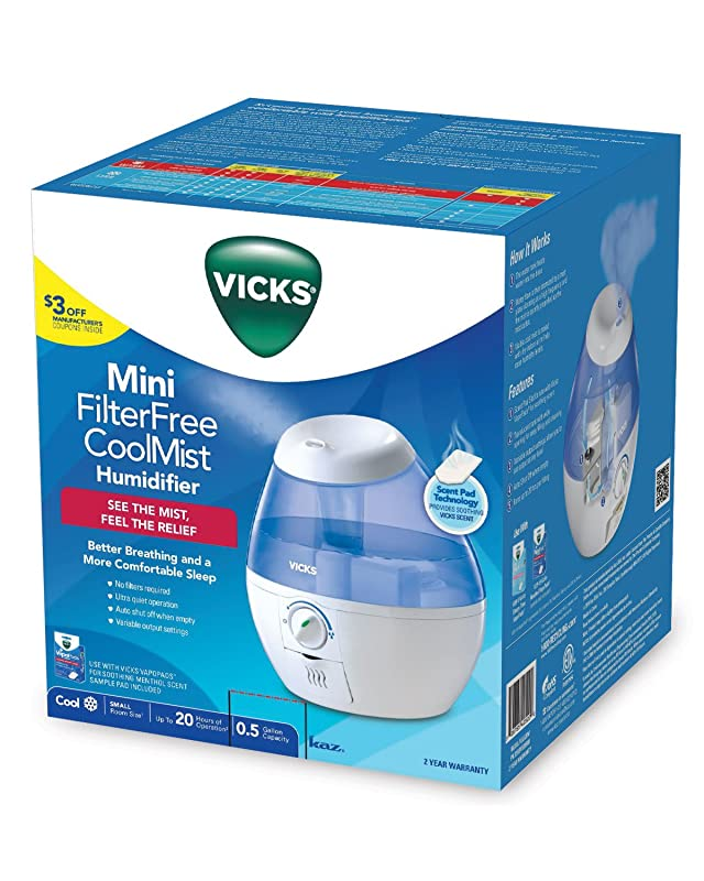 Vicks Vicks Vul520w Filter-free Cool Mist Humidifier, Mini via Amazon
