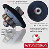 STADEA Diamond Profile Wheel / Profile Grinding Wheel 45 degree / Bevel 10 MM 3/8