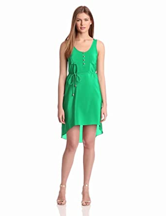 Amanda Uprichard Women's Hi Lo Tank Dress, Green, Small