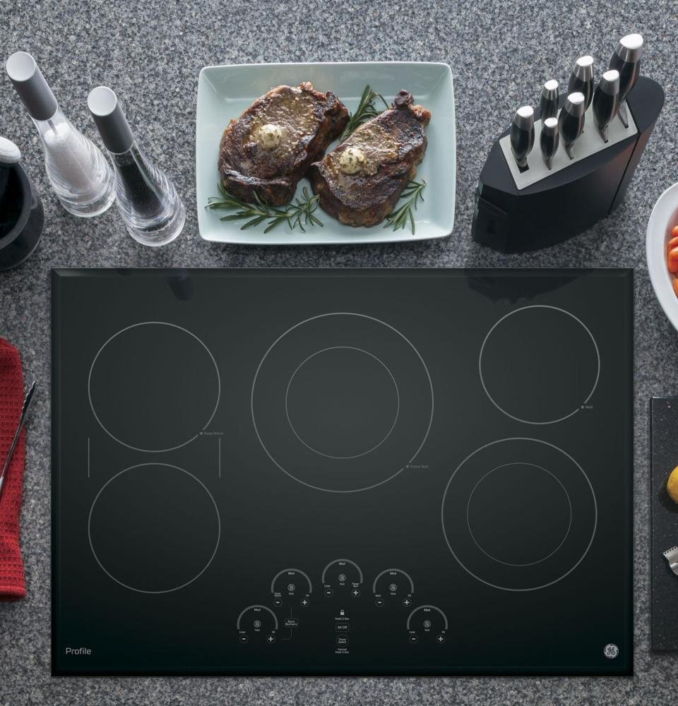"GE Profile 30"" Black Touch Control Electric Cooktop"