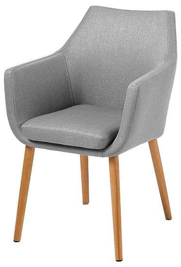 AC design furniture 60350 sillón Trine, 58 x 84 cm, funda de asiento de/la parte de la espalda de tela de Corsica, de colour gris claro