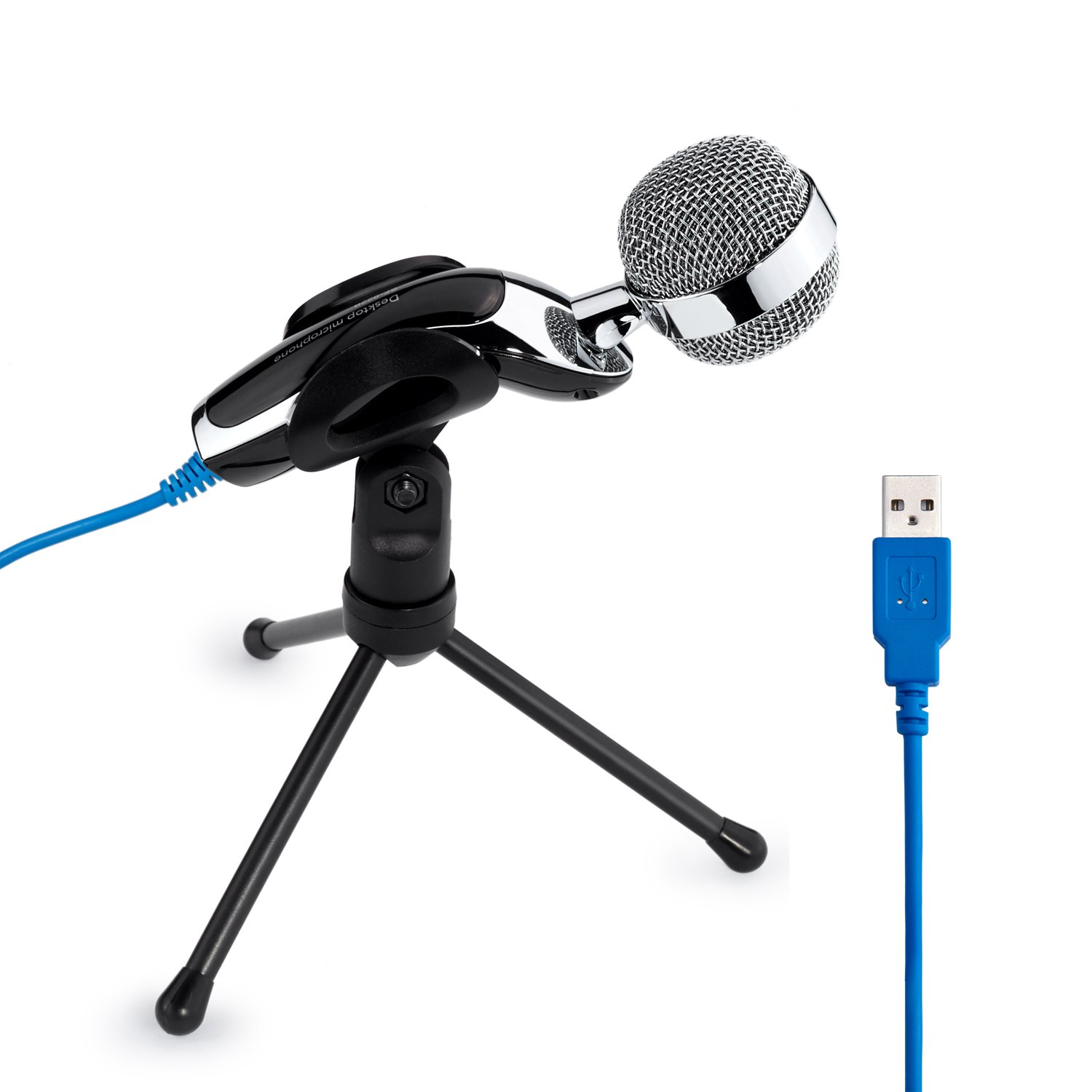 Tonor® USB Clear Digital Sound & Professional Condenser Sound Microphone with Stand for Skype PC Mac Laptop Recording nb 35 rotational professional recording microphone stand holder black white