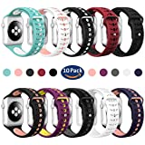 Valband Apple Watch Band 38mm 42mm, Soft Silicone Sport Band Strap Replacement iWatch Bands for Apple Watch Nike Series 3,Series 2,Series 1 (38mm, 10 Pack) (Color: 10 Pack, Tamaño: 38mm)