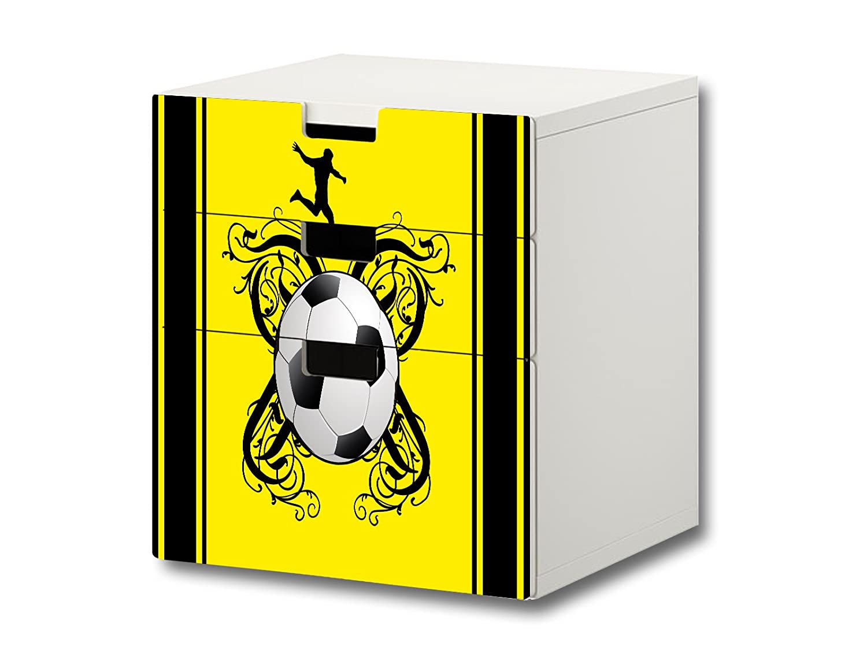 """""""Fußball"""" Möbelsticker / Aufkleber – FC24 – passend für die Kinderzimmer Kommode mit 3 Fächern / Schubladen STUVA von IKEA – Bestehend aus 3 passgenauen Möbelfolien (Möbel nicht inklusive) kaufen"""