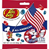 Jelly Belly Red. White & Blue All American Mix Jelly Beans 3.5 Oz (Pack of 8) (Tamaño: 3.5 Ounces)
