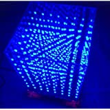 3D8 Light Cube 8x8x8 Electronic Light cubeeds DIY kit Remote Control PC Spectrum Blue 257 LEDs for a Welding Gift (257 LED Without case) (Tamaño: 257 LED without case)